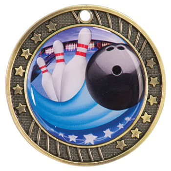 Bowling Epoxy Dome Medal