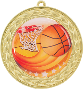 Basketball Epoxy Dome Medal
