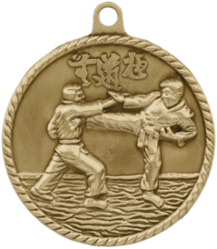 Martial Arts High Relief Medal