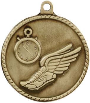 Track High Relief Medal