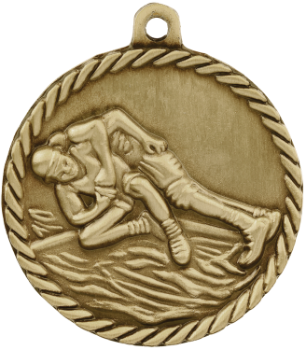 Wrestling High Relief Medal
