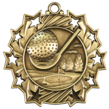 Golf Ten Star Medal