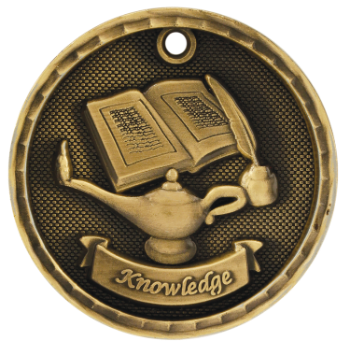Lamp of Knowledge 3D Medal