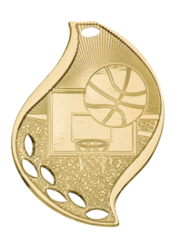 Basketball Flame Medal
