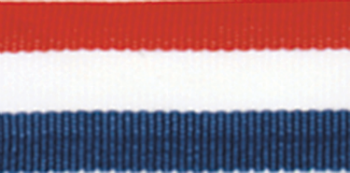 Red/White/Blue Neck Ribbon with Snap Clip