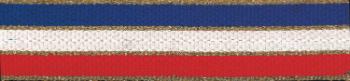 Red/White/Blue with Gold Edging Neck Ribbon with Snap Clip