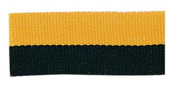 Black/Gold Neck Ribbon with Snap Clip