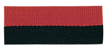 Black/Red Neck Ribbon with Snap CLip
