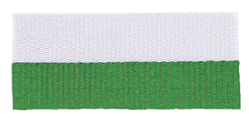 Green/White Neck Ribbon with Snap Clip
