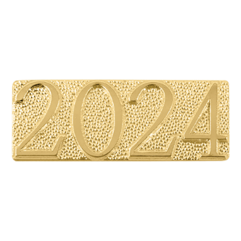 Gold 2024 Metal Chenille Letter Insignia
