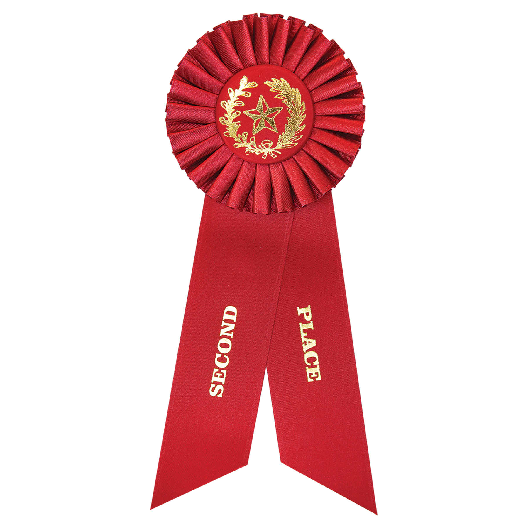 Red 2nd Place Rosette Ribbon