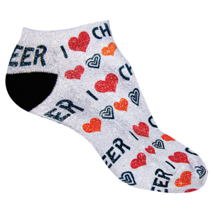 Adult Shimmer No Show Socks-One Size Fits Most