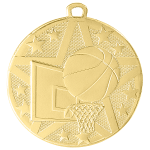 Basketball Superstar Medal