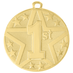 1st Place Gold Superstar Medal